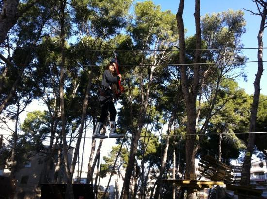 Bosc Aventura Salou: volando voy