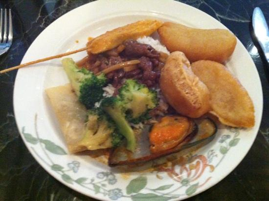 Some of the buffet items at China Garden.