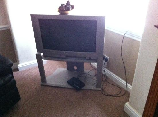 The Spotted Cow: TV / DIGITAL BOX - WIRES HANGING OUT
