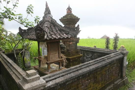 Puri Lumbung Cottages: temple near the sunset bar