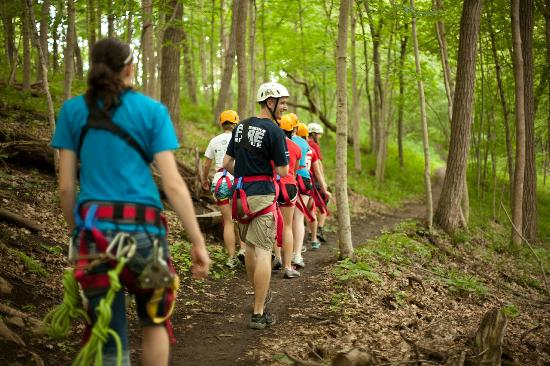 Sky Tours at YMCA Union Park Camp: The hike to The Duel (#7)