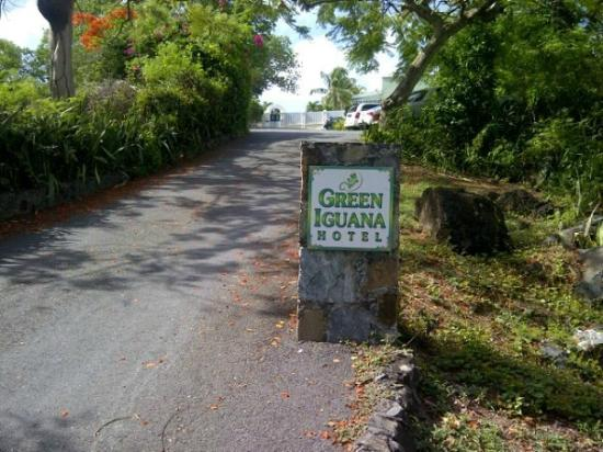 ‪‪The Green Iguana Hotel‬: Hotel Entrance Sign