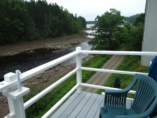 Riverside Inn: view from the balcony