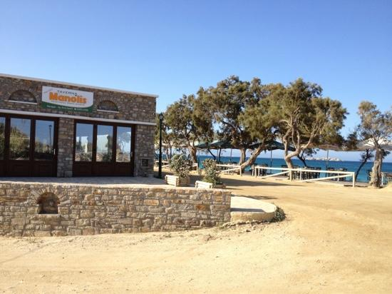 Agia Anna, Yunanistan: manolis next door- excellent food on the beach