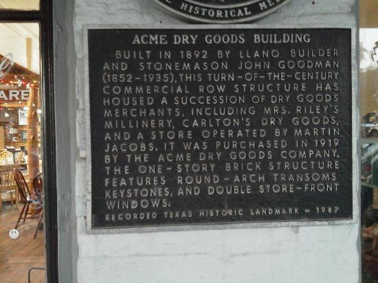 Acme Dry Goods Co Food Court: Landmark sign.