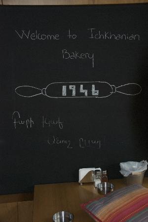 Ichkhanian Bakery: Info Board