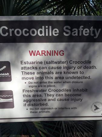 Berry Springs Nature Park : Beware of Crocs