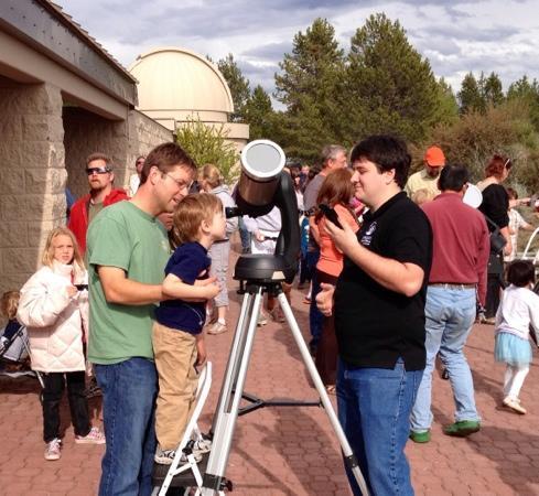 Oregon Observatory at Sunriver : solar viewing at Oregon Observatory