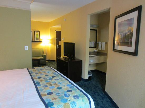 SpringHill Suites Jacksonville Airport: Room view from bed