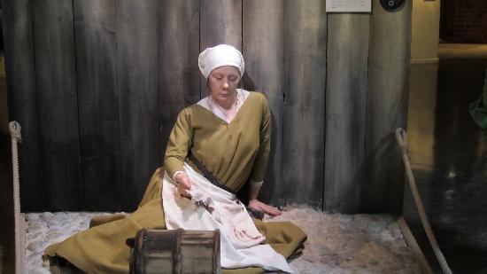 Stockholms medeltidsmuseum (Stockholmer Mittelaltermuseum): the plague strikes