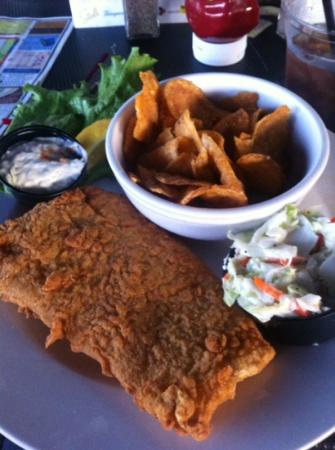 Michael's Harborside : Haddock basket - good sized portion - tasty - house made fries
