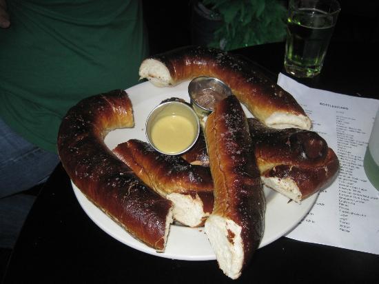 Upper 90 Sports Pub: HUGE pretzels