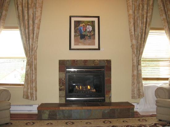 Chateau Kimberley Hotel: Common area lounge with fireplace