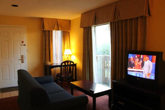 Hawthorn Suites Dayton North: Sitting area