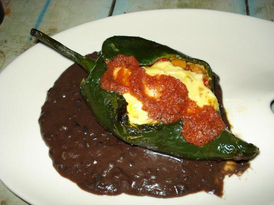 El Tabano: Chili Relleno stuffed with Ratatouille