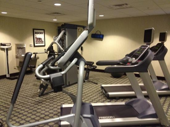 Staybridge Suites El Paso Airport Area: workout room. note tvs on cardio equipment, a nice cord weight machine, and a bottle fill water