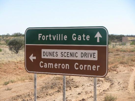 Cameron's Corner: directional 'Sign'
