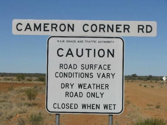 Cameron's Corner: typical 'Sign' in the outback