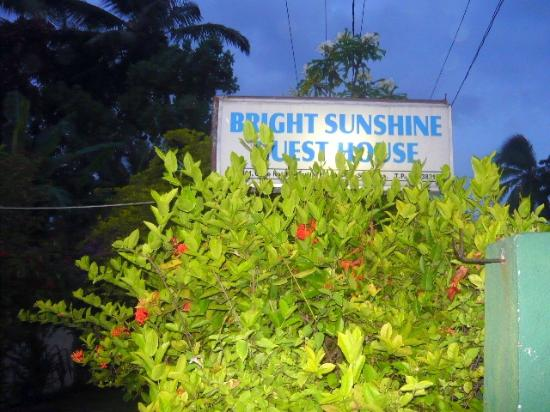 Bright Sunshine Guest House : Name board