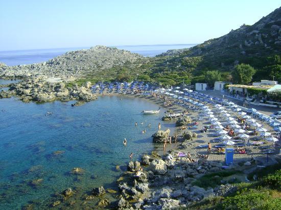 โรงแรมอาชูซาอพาร์ตเมนท์: Ladiko Bay Viewed from top of the road