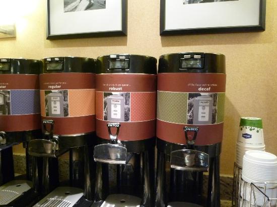 Hampton Inn Milford: Kaffeeauswahl
