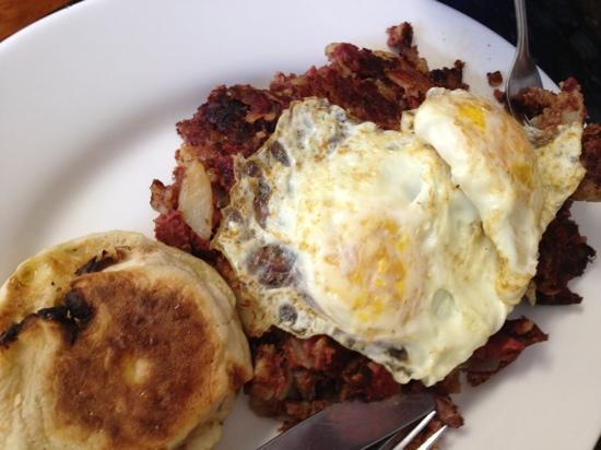 Cristy's Luncheonette: 2 eggs w/corned Beef Hash