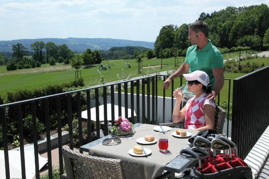 Ausblick auf Golfplatz im Wellnesshotel Golf Panorama, Thurgau, Bodensee, Lipperswil Schweiz
