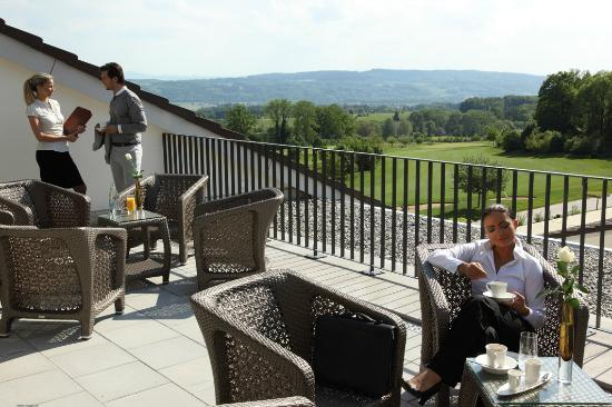 Wellnesshotel Golfpanorama: Kaffeepause im Wellnesshotel Golf Panorama, Thurgau, Bodensee, Lipperswil Schweiz