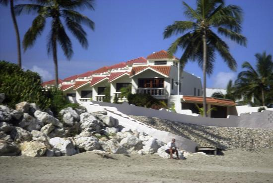 Cabarete Beach House at Nanny Estates: View of CBH from the beach - A1 is right next to the beach