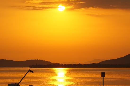 Angelika Pallas: Sunset over Igoumenitsa Bay (with industrial hardware)