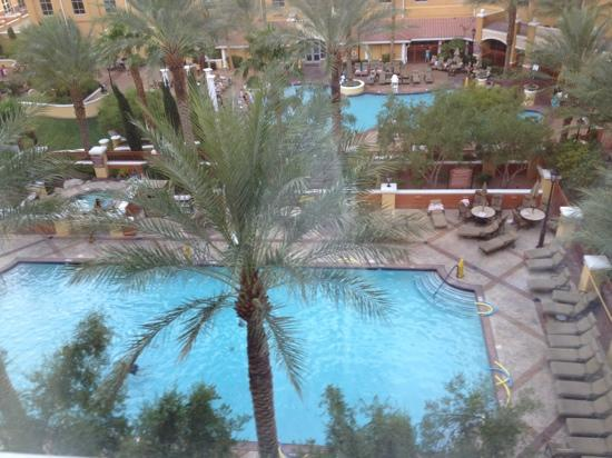 Wyndham Grand Desert: view of pool from the room