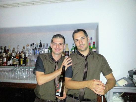 Hotel Belvedere: Pavos and Christos: The Best Bartending Team!