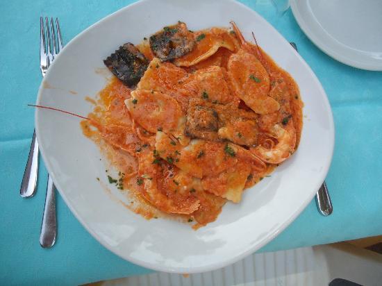 Hotel Pedra Niedda: raviolini del pescatore, ottimi!