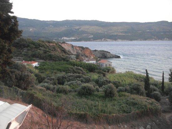 Hotel Andromeda: Blick vom Balkon auf die Küste vom Samos Stadt