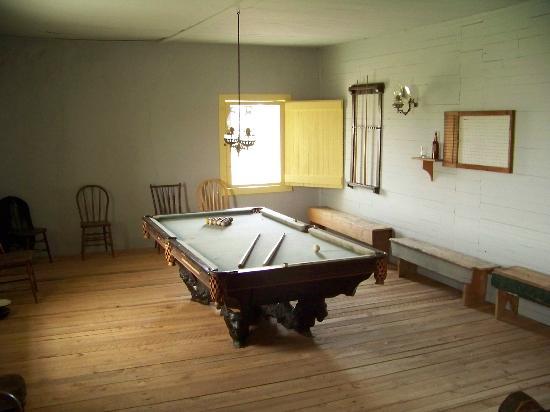 Fort Laramie National Historic Site: Pool Table in Pub (original)