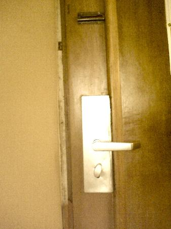 Welcome Centre Hotels: door of hotel room (picture has been cropped and not showing full photo as loaded by myself)