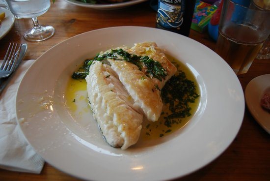 Beach House Cafe: Hake - Perfectly cooked
