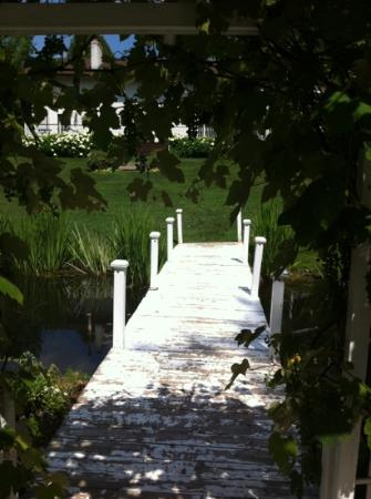 Plantation House Bed and Breakfast: the view from the pond gazebo