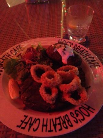 Hog's Breath Cafe-Chimjes: ribeye with calamari