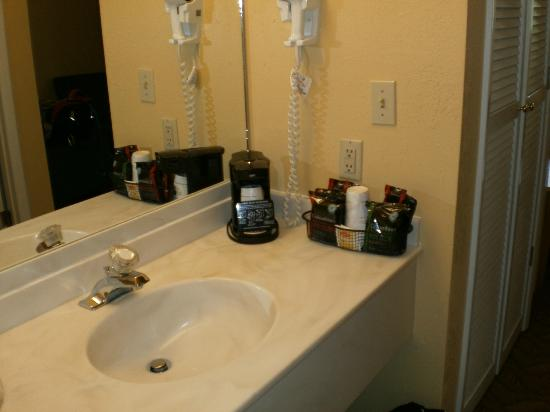 Best Western Durango Inn & Suites: Little sink separate from toilet/shower area