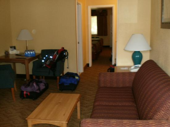 BEST WESTERN Durango Inn & Suites: Main living area--fold out couch