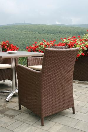The Residence Ozon Conference & Wellness Hotel: I loved having a cup of coffee or breakfast with this view!