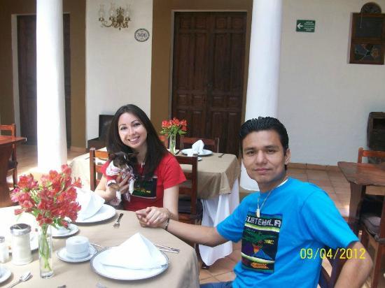 Hotel Casa de Guadalupe: Almorzando.