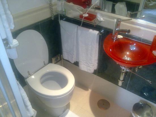 Alex Inn: Il bagno (simpatico ma piccolissimo il lavandino)