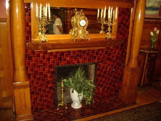 The Frank House : The Fireplace and its tiles are original.