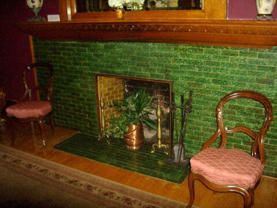 G.W. Frank Museum of History and Culture : Each fireplace has a different color of tiles