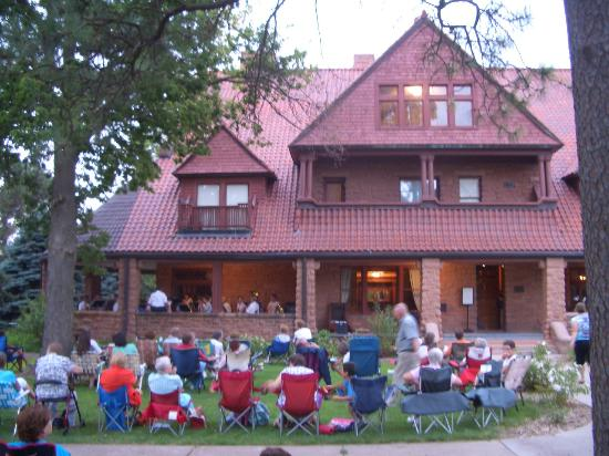 G.W. Frank Museum of History and Culture : The Frank House during a summer concert in 2012