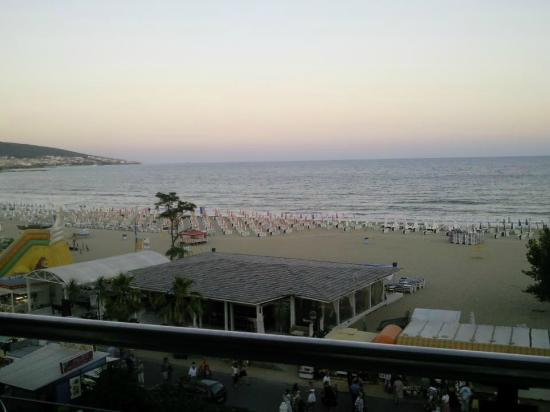 Palace Hotel: late evening across the beach