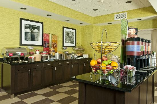 Hampton Inn Augusta: All you can heat Hampton Hot Breakfast.  Grab and go breakfasts if you are in a hurry.
