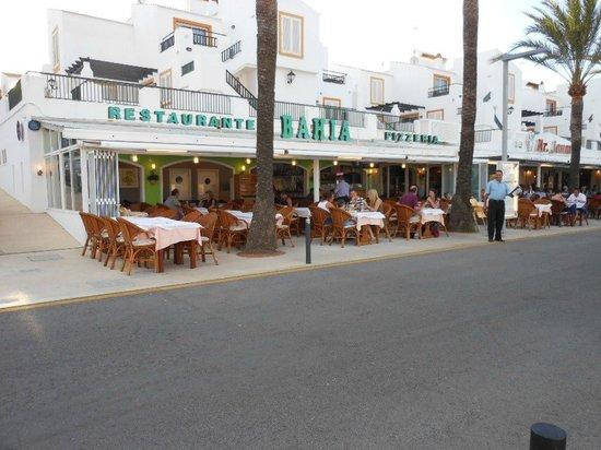 "The ""BAHIA"" Restaurant,Marina, Cala'n Bosch, Menorca."